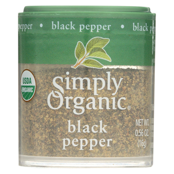 Simply Organic Black Pepper - Organic - Medium Grind - 0.56 oz - Case of 6