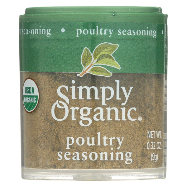 Simply Organic Poultry Seasoning - Organic - 0.32 oz - Case of 6