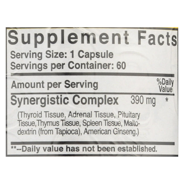 Natural Sources Raw Thyroid - 60 tabs