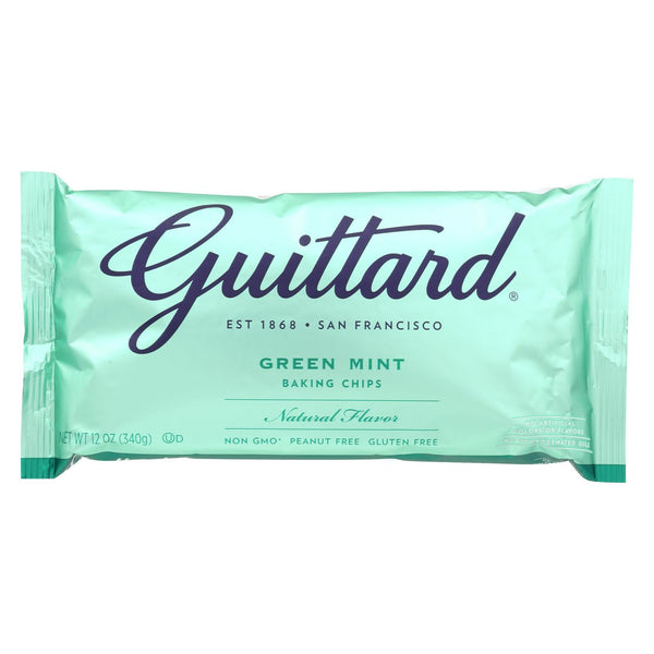 Guittard Chocolate Chips - Green Mint - Case Of 12 - 12 Oz.