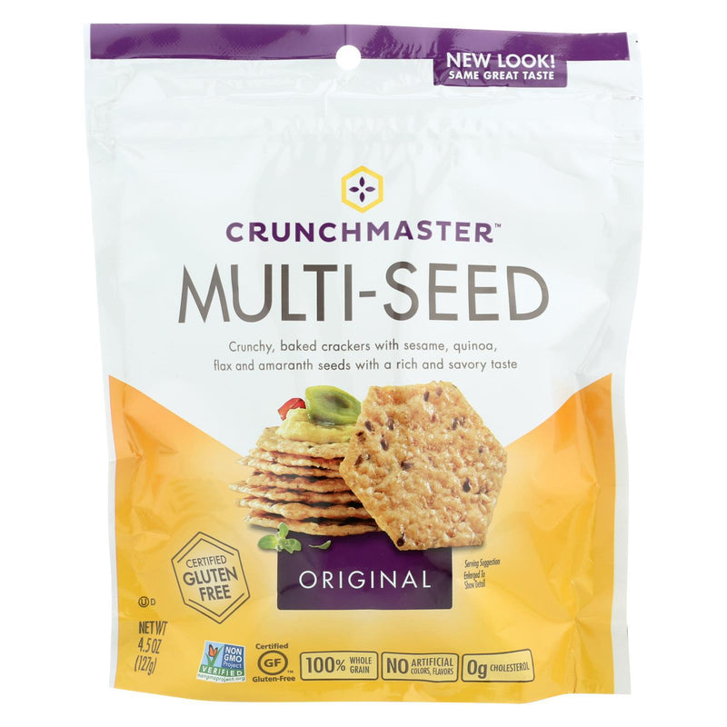 Crunchmaster Multi-seed Crackers - Original - Case of 12 - 4.5 oz