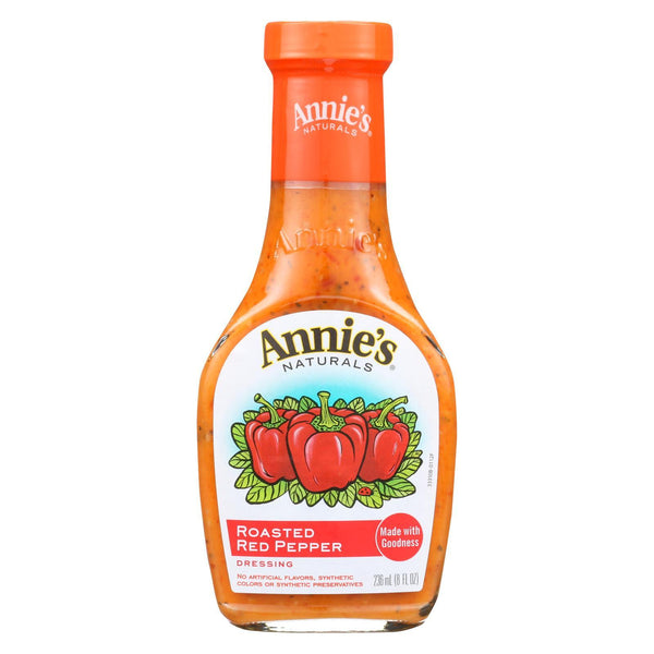 Annie's Naturals Vinaigrette Roasted Red Pepper - Case of 6 - 8 fl oz
