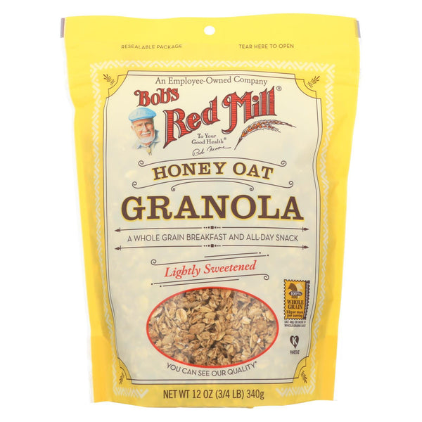 Bob's Red Mill Honey Oat Granola - 12 oz - Case of 4