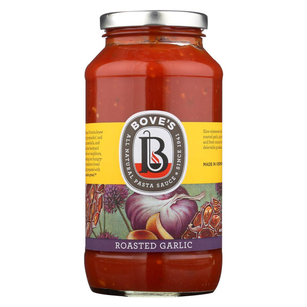 Bove's Of Vermont Pasta Sauce - Roasted Garlic - Case of 6 - 24 fl oz