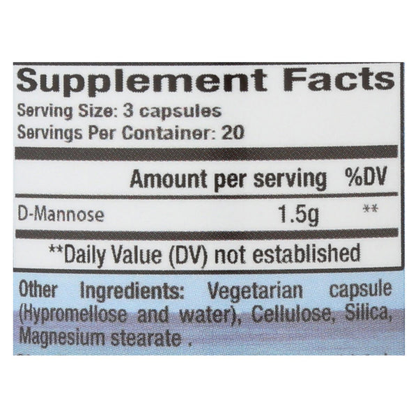 Cleartract D-mannose Formula - 500 mg - 60 caps