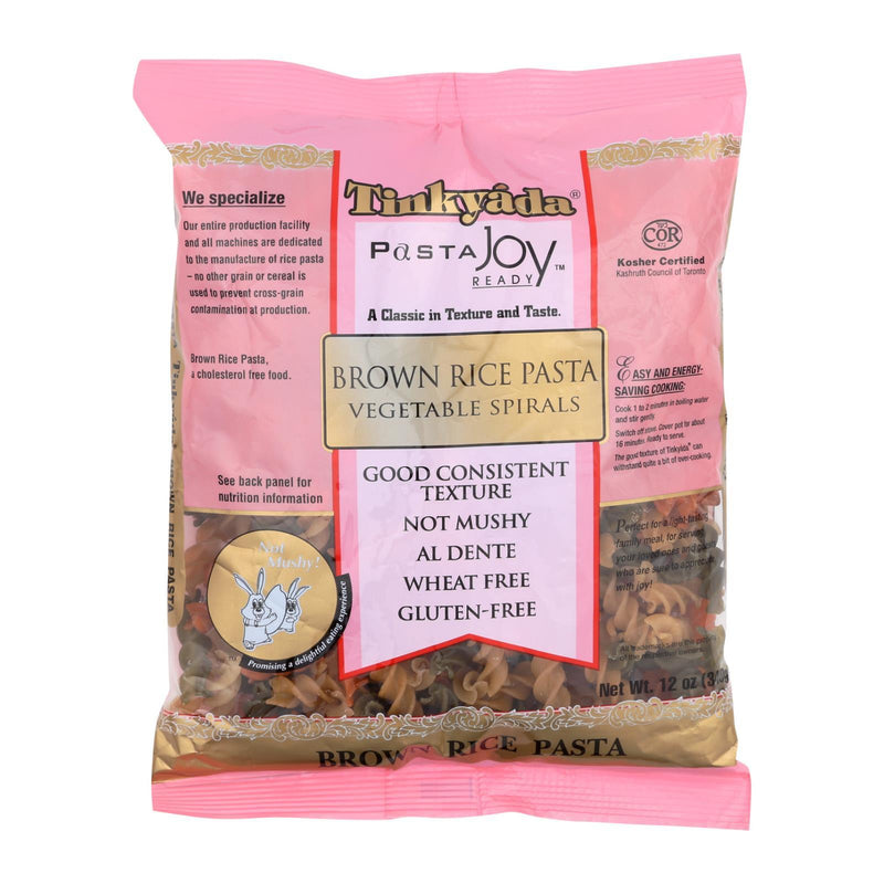 Tinkyada Brown Rice Pasta - Vegetable Spiral - Case of 12 - 12 oz