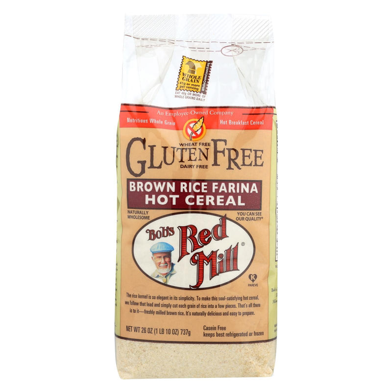 Bob's Red Mill Creamy Brown Rice Farina Hot Cereal - 26 oz - Case of 4