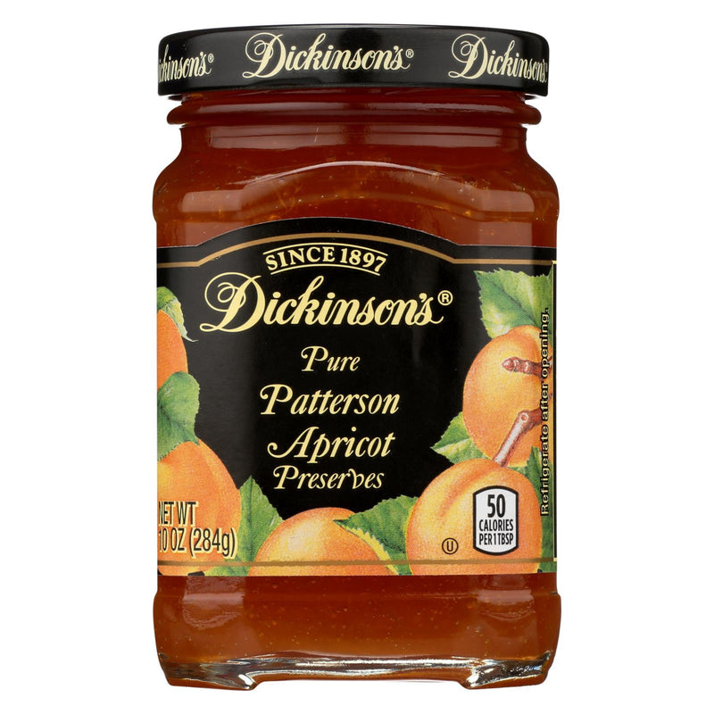Dickinson Pure Patterson Apricot Preserves - Case of 6 - 10 oz
