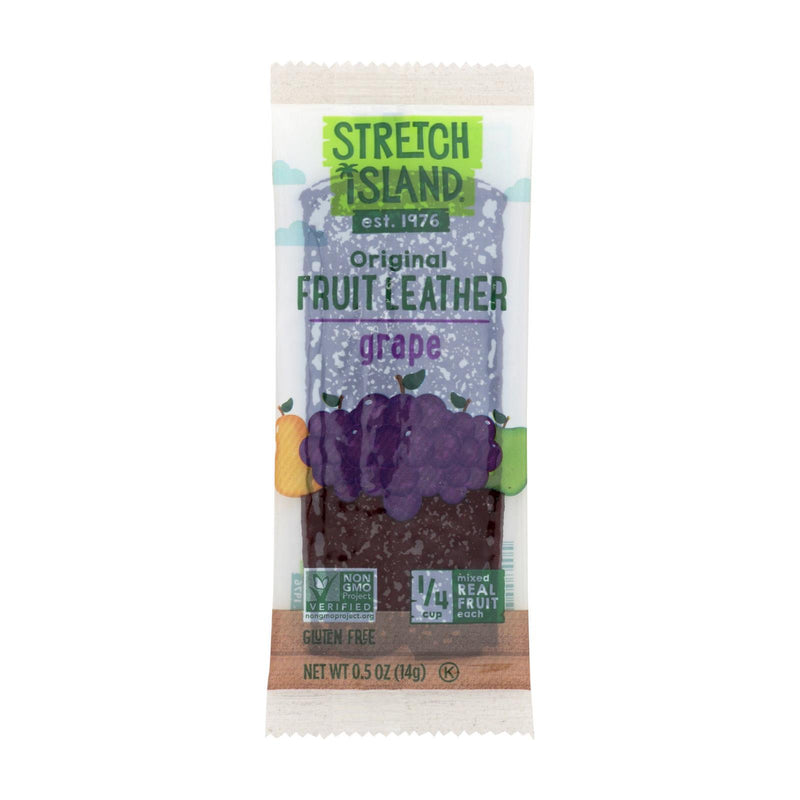 Stretch Island Fruit Leather Strip - Harvest Grape - 0.5 oz - Case of 30