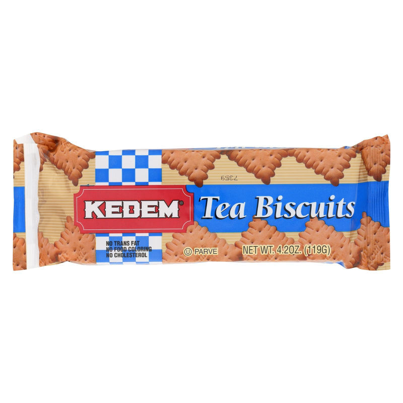 Kedem Tea Biscuits - Plain - Case of 24 - 4.2 oz