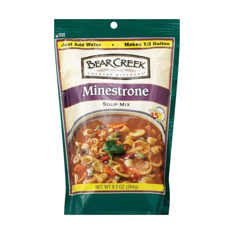 Bear Creek Minestrone Soup Mix - Case of 6 - 9.3 oz