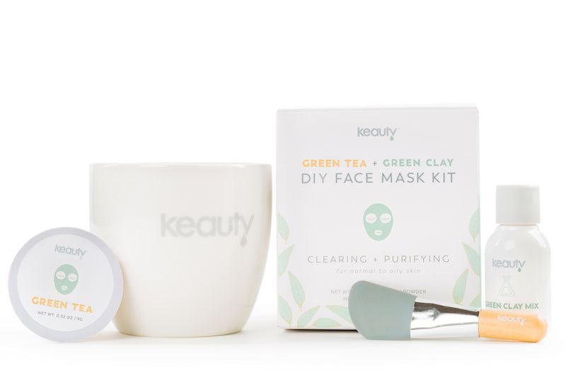 Green Tea + Green Clay DIY Face Mask Kit | Cleansing + Purifying | for oily, acne prone skin