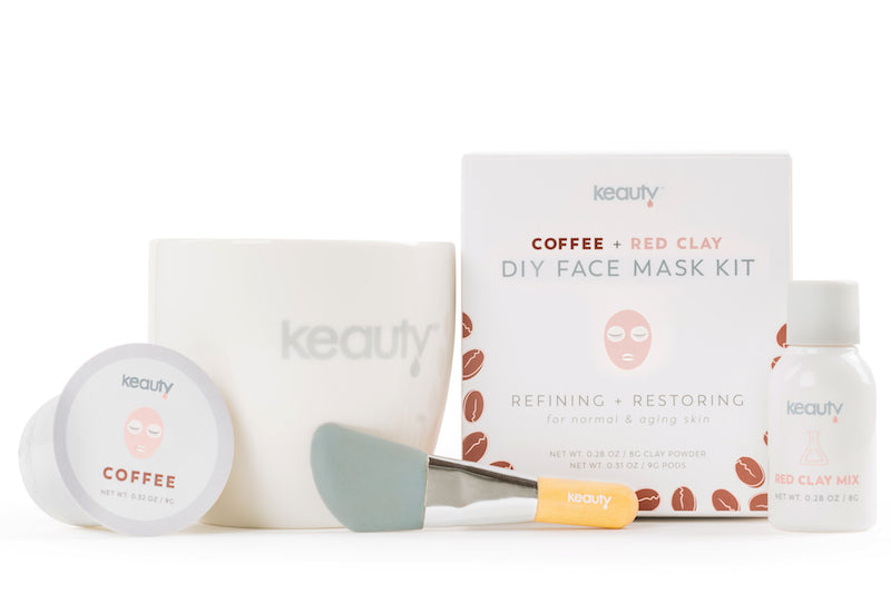 Coffee + Red Clay DIY Face Mask Kit | Refining + Restoring | for normal or aging skin