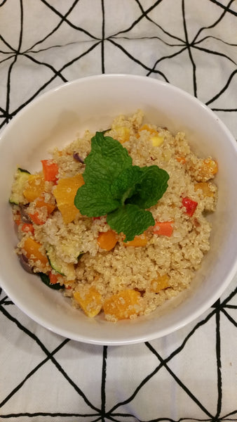 Roast Vegetable & Citrus Quinoa Salad