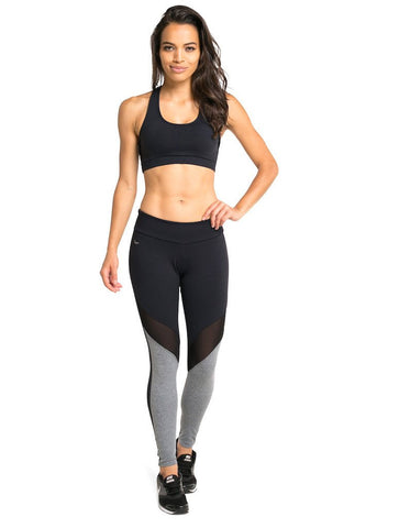 Heather & Mesh Supplex Compress F/L Legging