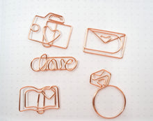 Rose Gold Journaling Paper Clips