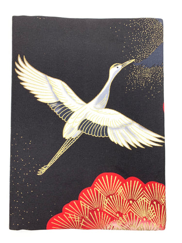 A5 Black Crane Notebook Cover