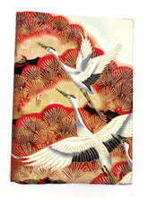 A5 White/Red Crane Notebook Cover