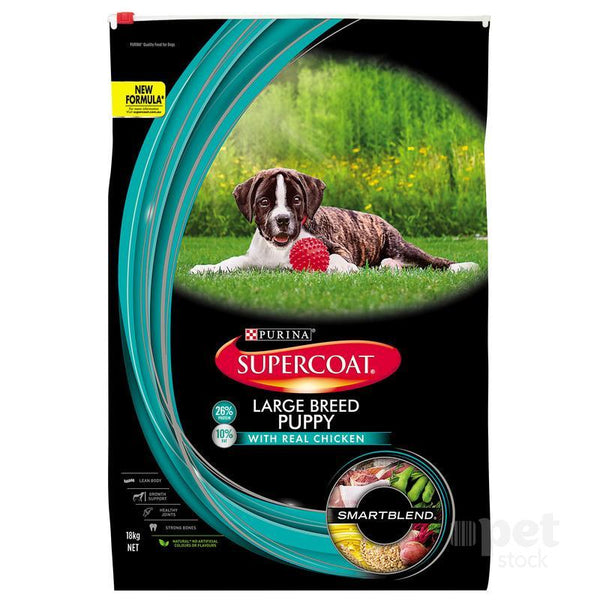 Supercoat Smartblend Large Breed Puppy Chicken Dry Dog Food - 18kg