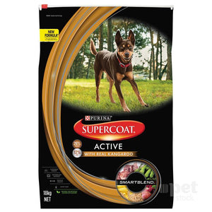 Supercoat Smartblend Adult Active Kangaroo Dry Dog Food
