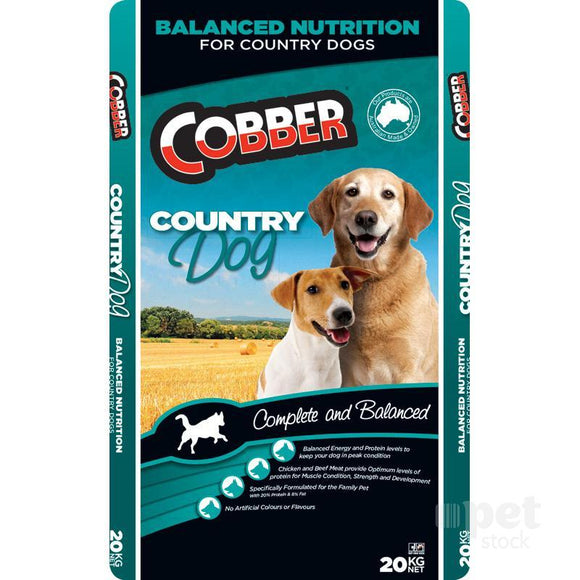 Cobber Country Dog Dry Food - 20kg