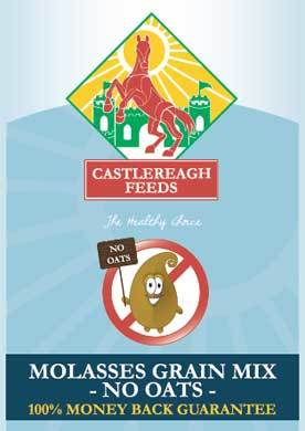 CASTLEREAGH MOLASSES GRAIN MIX NO OATS 25KG