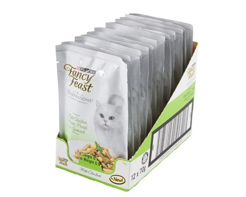 Fancy Feast Insperations Chicken with Pasta & Spinach 70g x 12