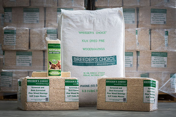 Breeders choice Wood Shavings