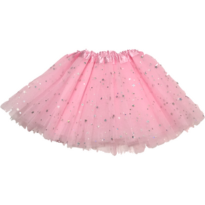 Girl Tutu in Light Pink Silver Stars