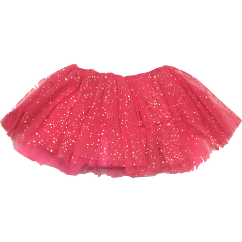 Girl Tutu Soft in Hot Pink Gold Stars