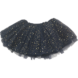 Girl Soft Tutu in Navy with Gold Stars