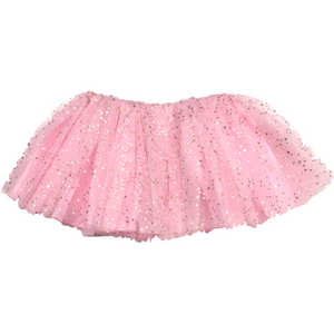 Girl soft Tutu in Light Pink with Gold Stars