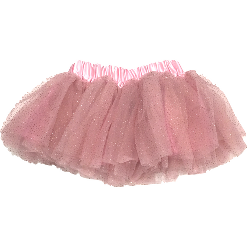 Baby Soft Tutu in Pink with Gold Sparkles