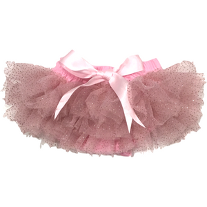 Baby Bloomer Tutu in Pink and Gold Sparkles