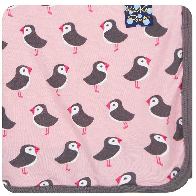 Kickee Swaddle in Lotus Puffin