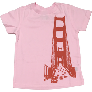 San Francisco Bridge Tee in Light Pink