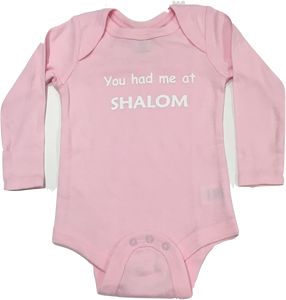 You Had Me At Shalom Onesie
