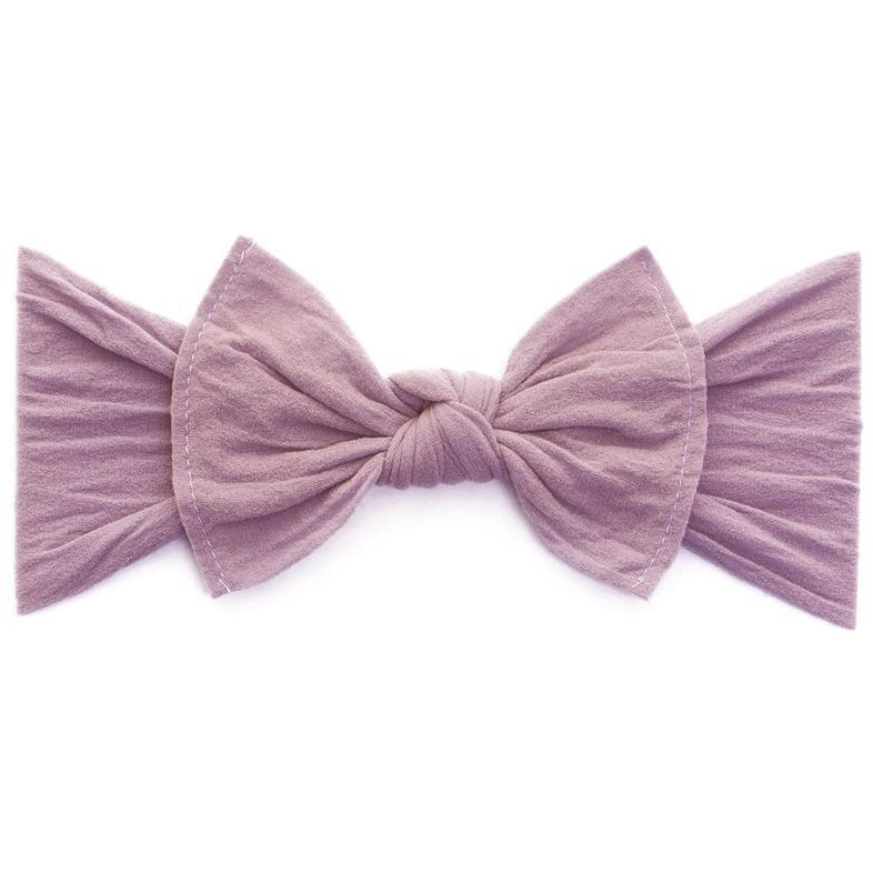 Knot Bow Headband in Muave