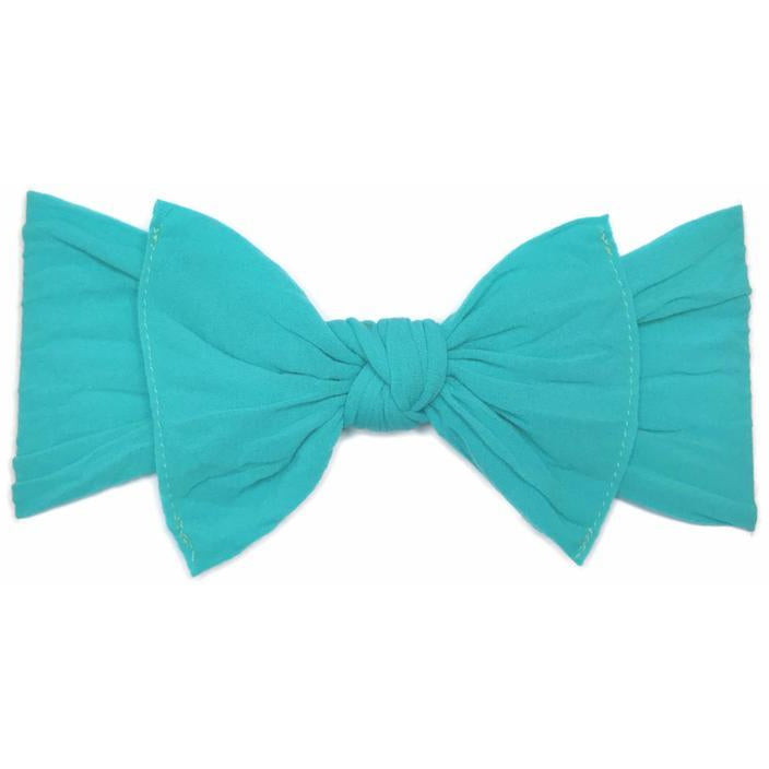 Knot Bow Headband in Turquoise