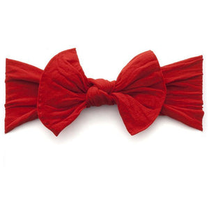 Knot Bow Headband in Cherry