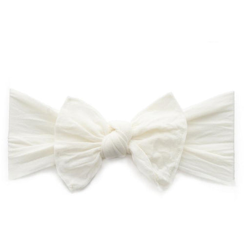 Knot Bow Headband in Ivory