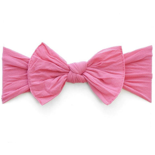 Knot Bow Headband in Hot Pink