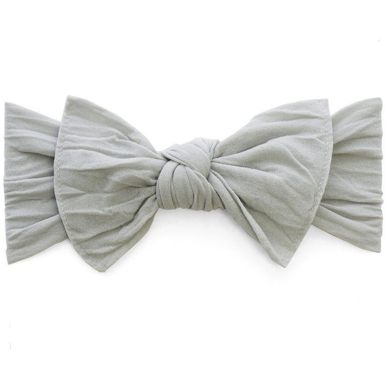 Knot Bow Headband in Grey