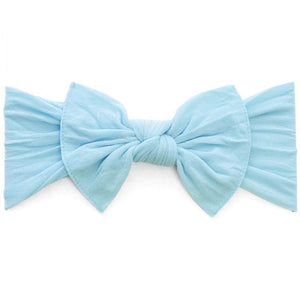 Knot Bow Headband in Aqua