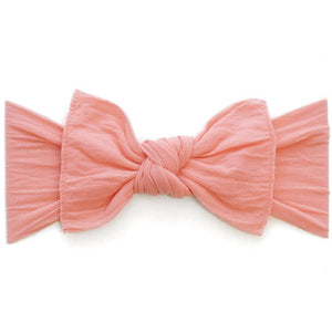 Knot Bow Headband in Coral