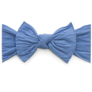 Knot Bow Headband in Denim
