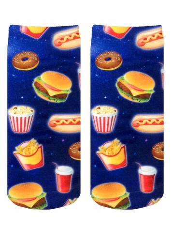 Living Royal Fast Food Galaxy Ankle Socks