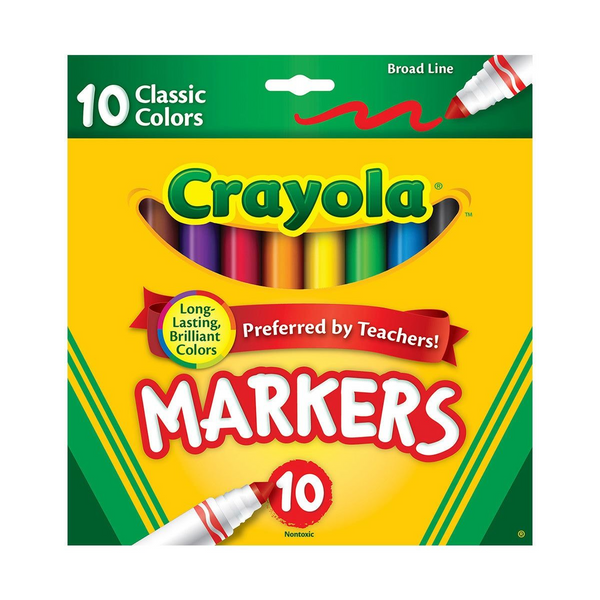 Broad Line Markers-10 Count