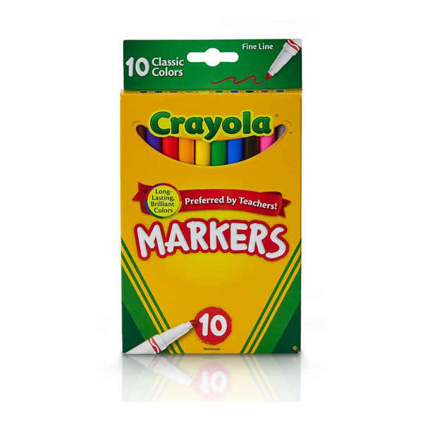 Fine Line Markers-10 Count