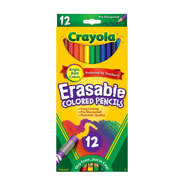 Erasable Colored Pencils-12 Count